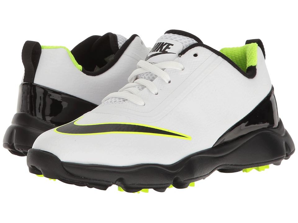 Nike Golf Control Jr (Little Kid/Big Kid) (White/Black/Volt) Men