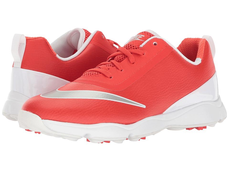 Nike Golf Control Jr (Little Kid/Big Kid) (Max Orange/Metallic Silver/White) Men