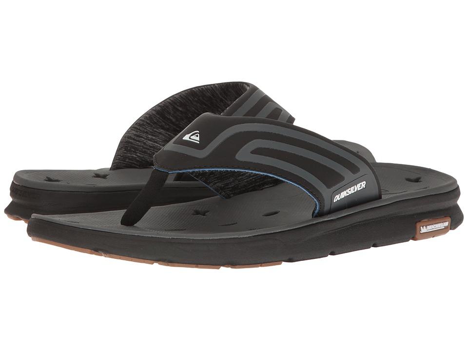 Quiksilver - Amphibian Plus Sandal (Black/Black/Grey) Men's Sandals