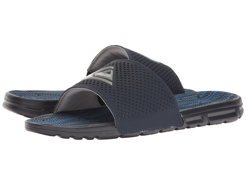 Quiksilver Amphibian Slide (Blue/Blue/Grey) Men
