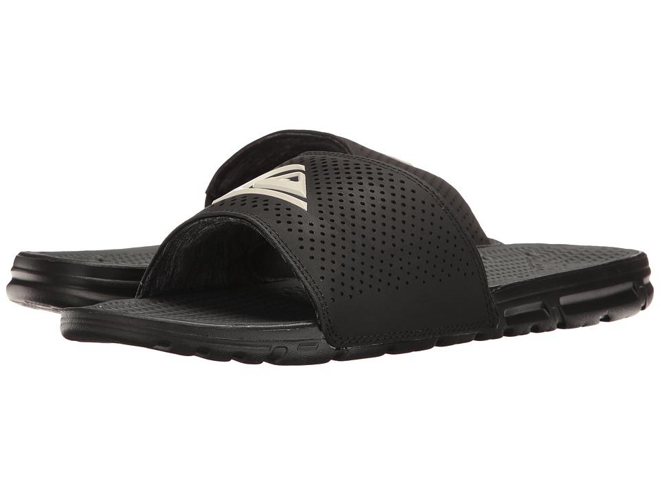 Quiksilver Amphibian Slide (Black/Black/White) Men