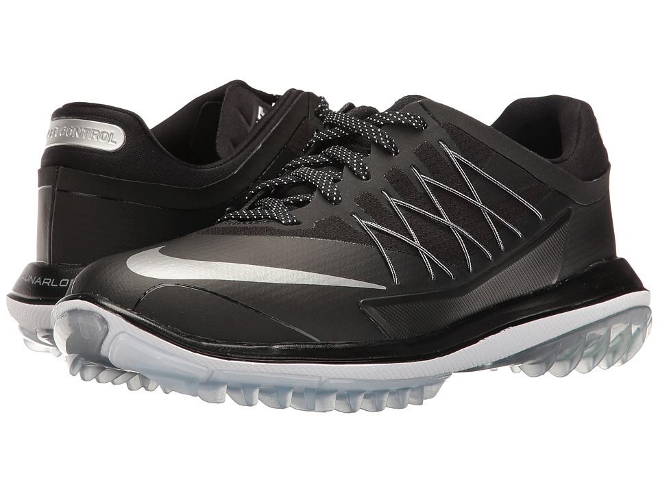 Nike Golf - Womens Lunar Control Vapor (Black/Metallic Silver/White) Women's Golf Shoes