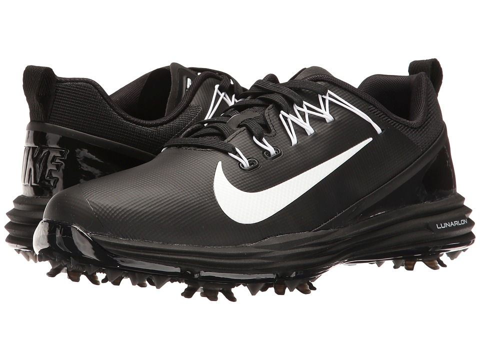 Nike Golf Lunar Command 2 (Black/White/Black) Women's Golf Shoes