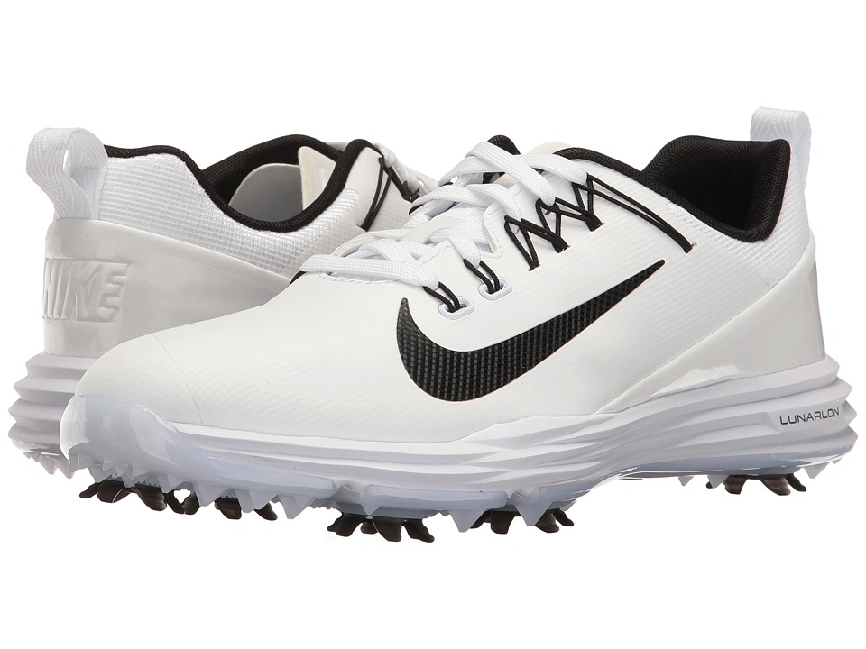 Nike Golf Lunar Command 2 (White/Black/White) Women's Golf Shoes