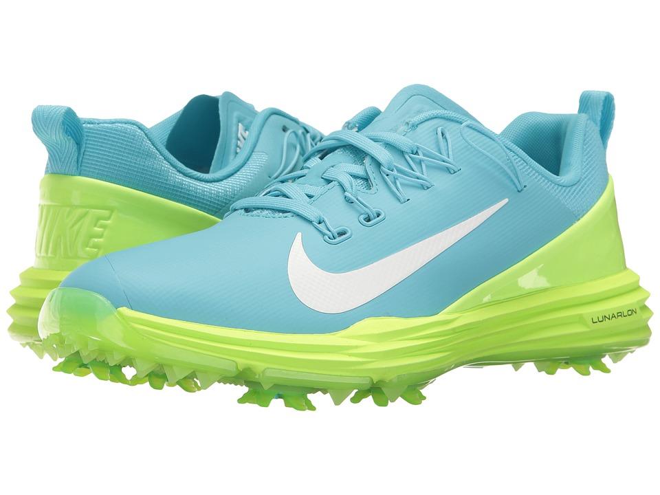 Nike Golf - Lunar Command 2 (Vivid Sky/White/Ghost Green)...