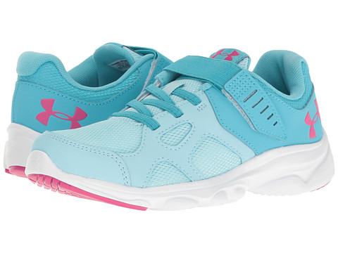 Under Armour Kids UA GPS Pace RN AC (Little Kid) - Opal Blue/White/Lime Fizz