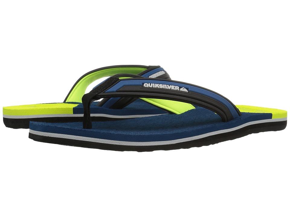 Quiksilver - Molokai New Wave Deluxe (Blue/Yellow/Blue) Men's Sandals