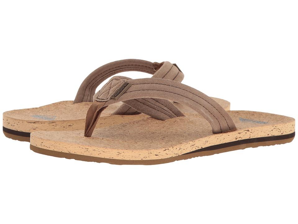 Quiksilver - Carver Cork (Brown/Brown/Brown) Men's Sandals