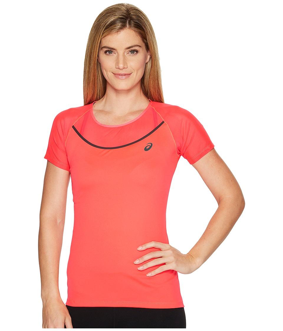 ASICS Elite Short Sleeve Tee (Diva Pink) Women