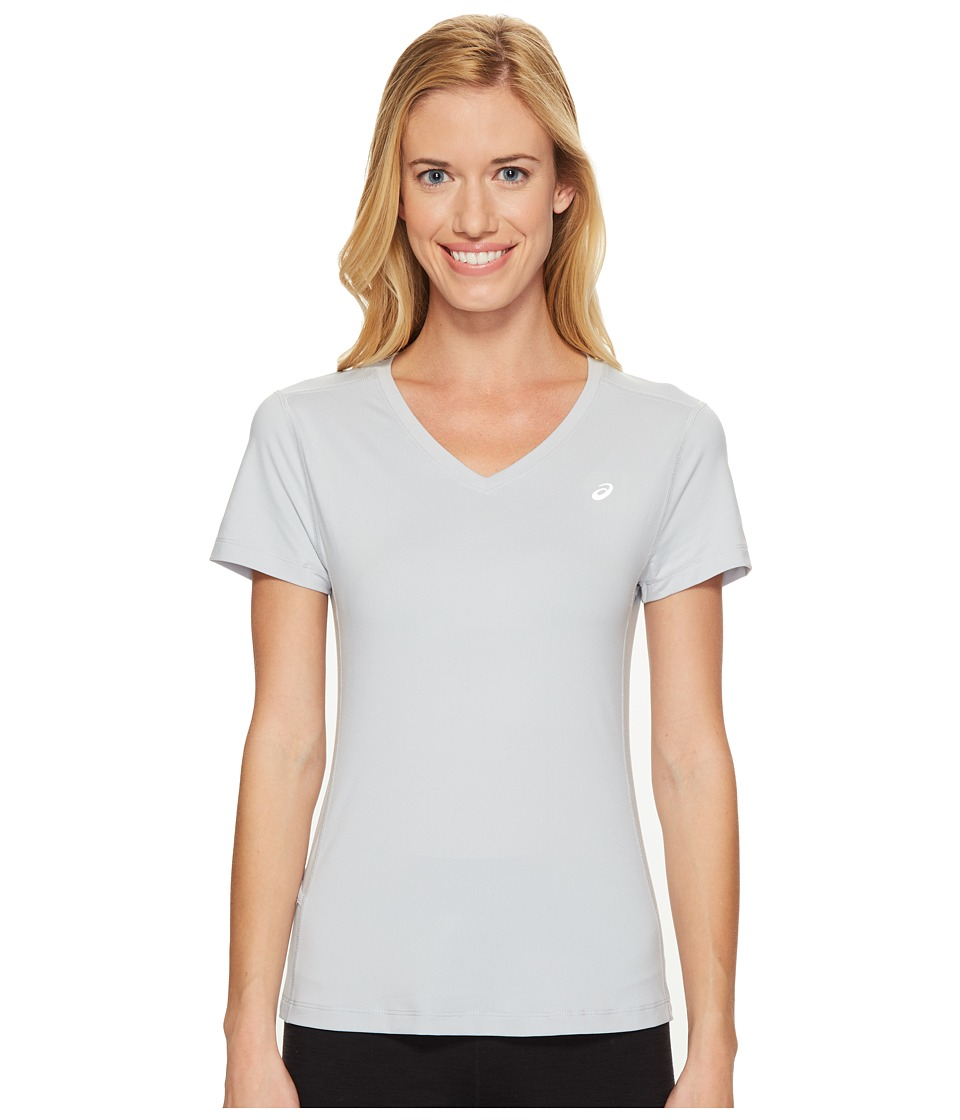 ASICS ASX Dry Short Sleeve Shirt (Mid Grey) Women