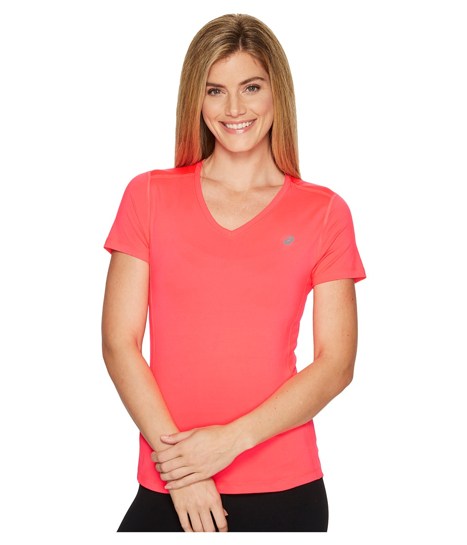 ASICS ASX Dry Short Sleeve Shirt (Diva Pink) Women