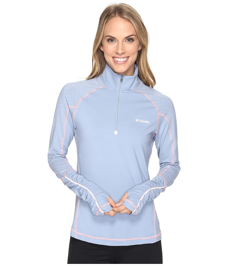 Columbia Trail Flashtm 1/2 Zip Shirt (Beacon/Cherry Blossom) Women