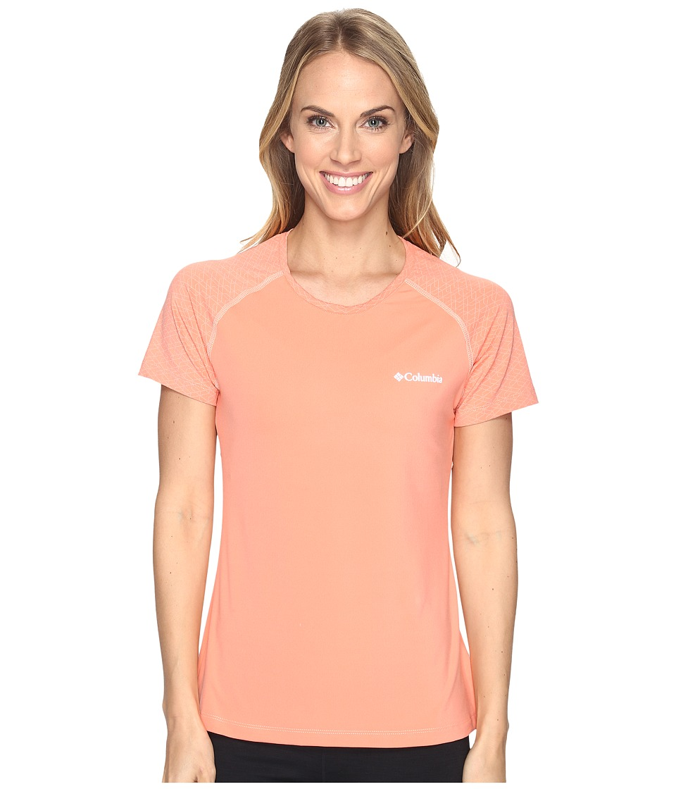 Columbia Trail Flashtm Short Sleeve Shirt (Lychee/Light Coral) Women