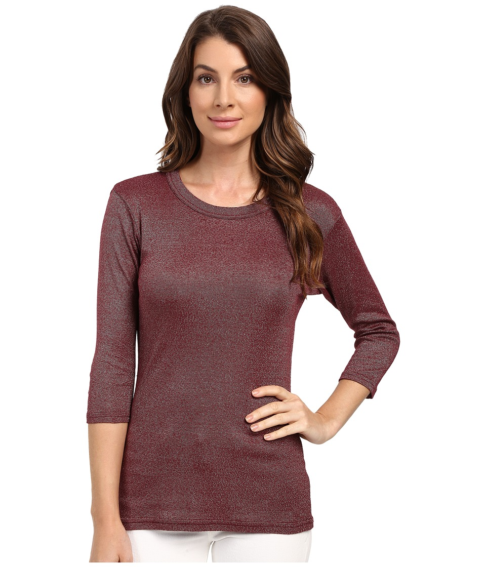 Michael Stars Shine Crew Neck Shirt (Pinot) Women