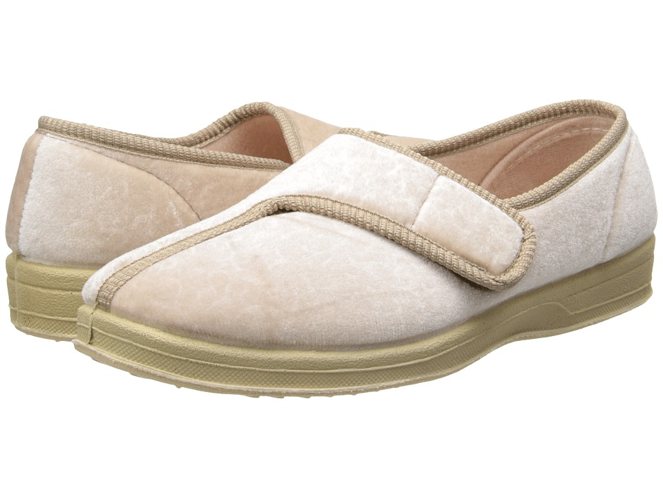 Foamtreads Jewel Champagne Velour Womens Slippers