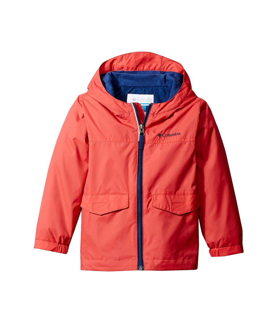 Columbia Kids Rain-Zilla Jacket (Toddler) (Sunset Red/Carbon) Boy