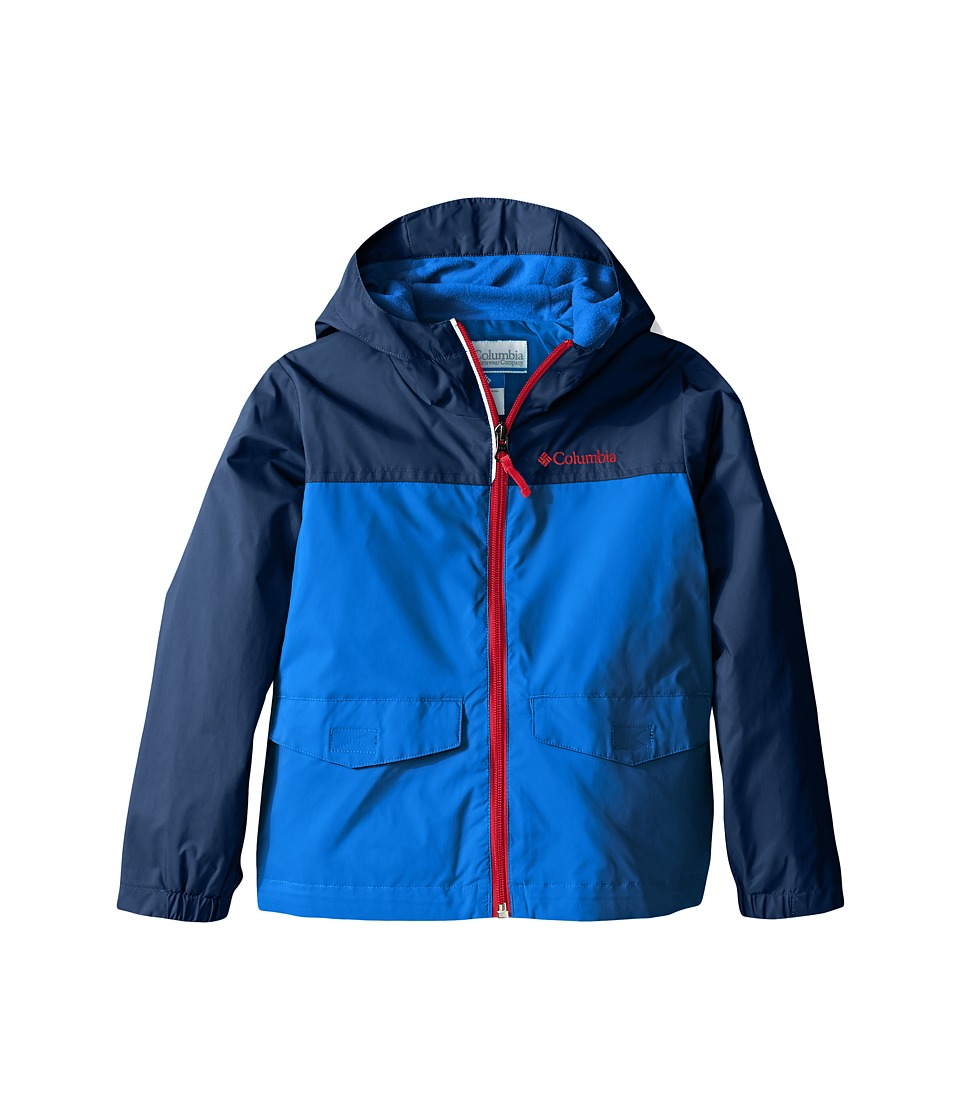 Columbia Kids Rain-Zilla Jacket (Toddler) (Super Blue/Carbon/Mountain Red) Boy