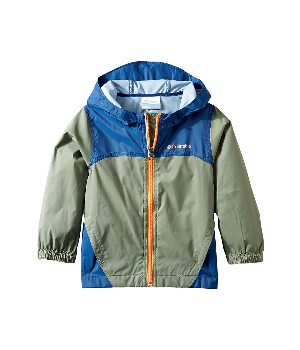 Columbia Kids Glennaker Rain Jacket (Toddler) (Cypress/Carbon/Koi) Boy