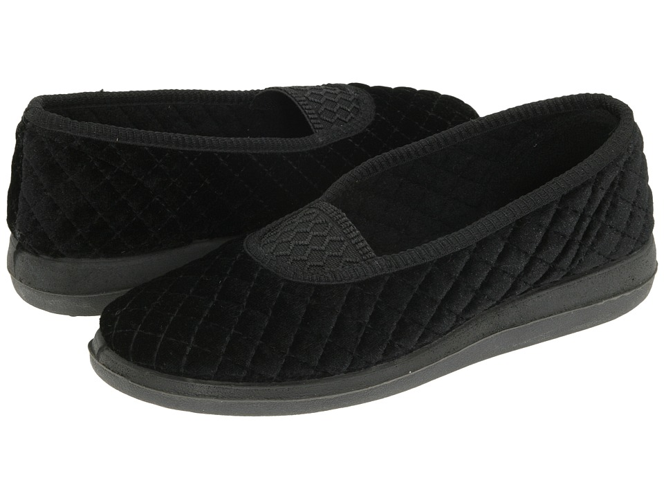 Foamtreads Waltz (Black Velour) Slippers