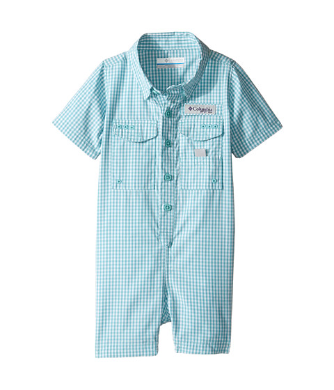 Columbia kids bonehead romper infant moxie gingham for Baby fishing shirts columbia