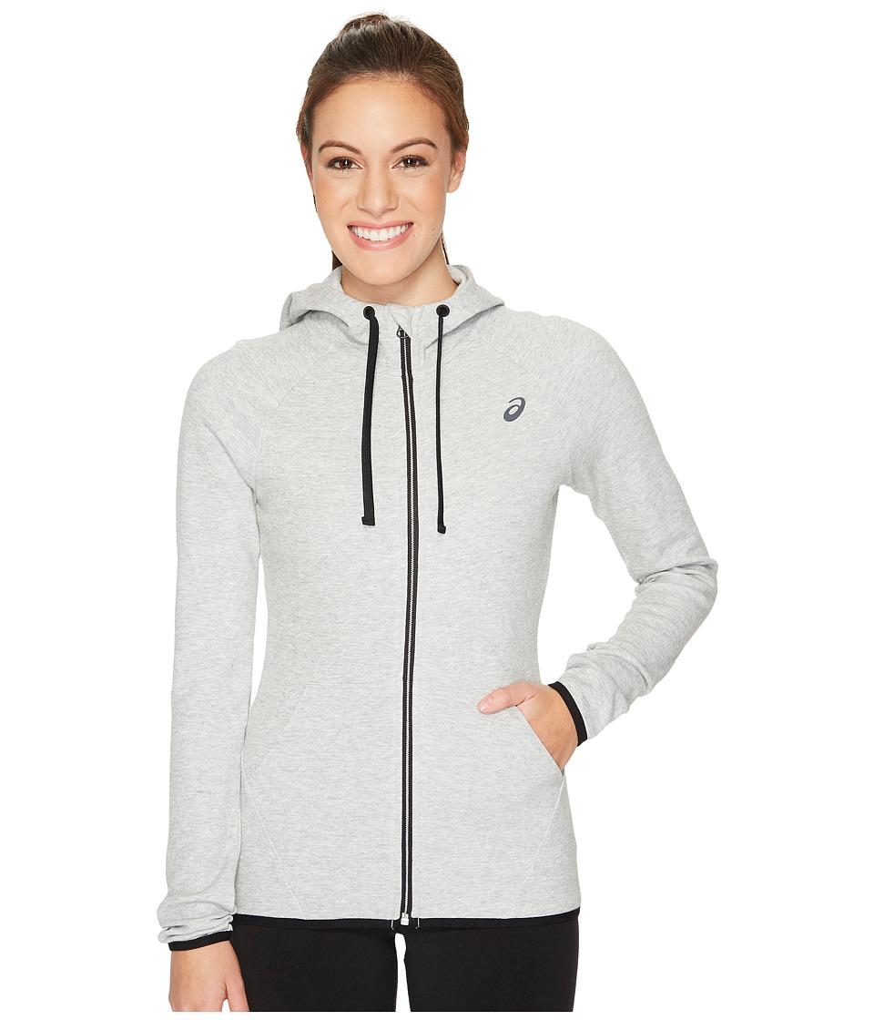 ASICS Full Zip Hoodie (Light Grey Heather) Women