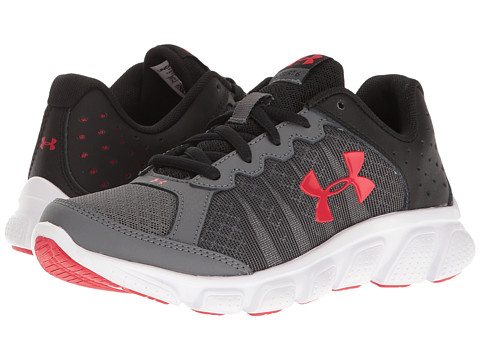 Under Armour Kids UA BPS Assert 6 (Little Kid) - Rhino Gray/Black/Red