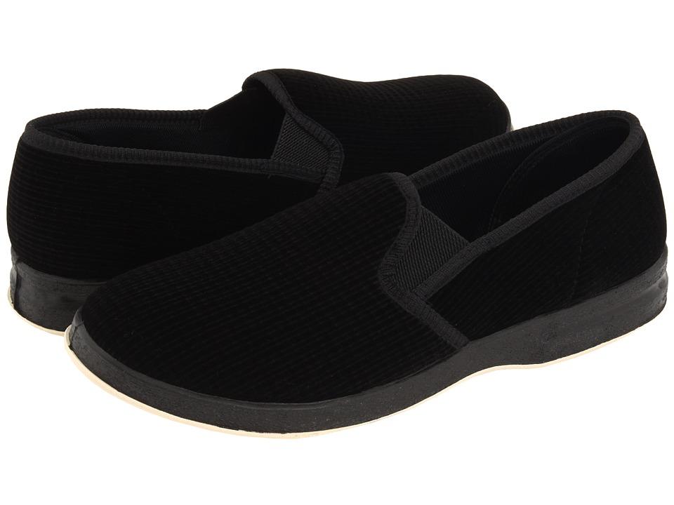 Foamtreads - Regal (Black Microfiber) Mens Slippers