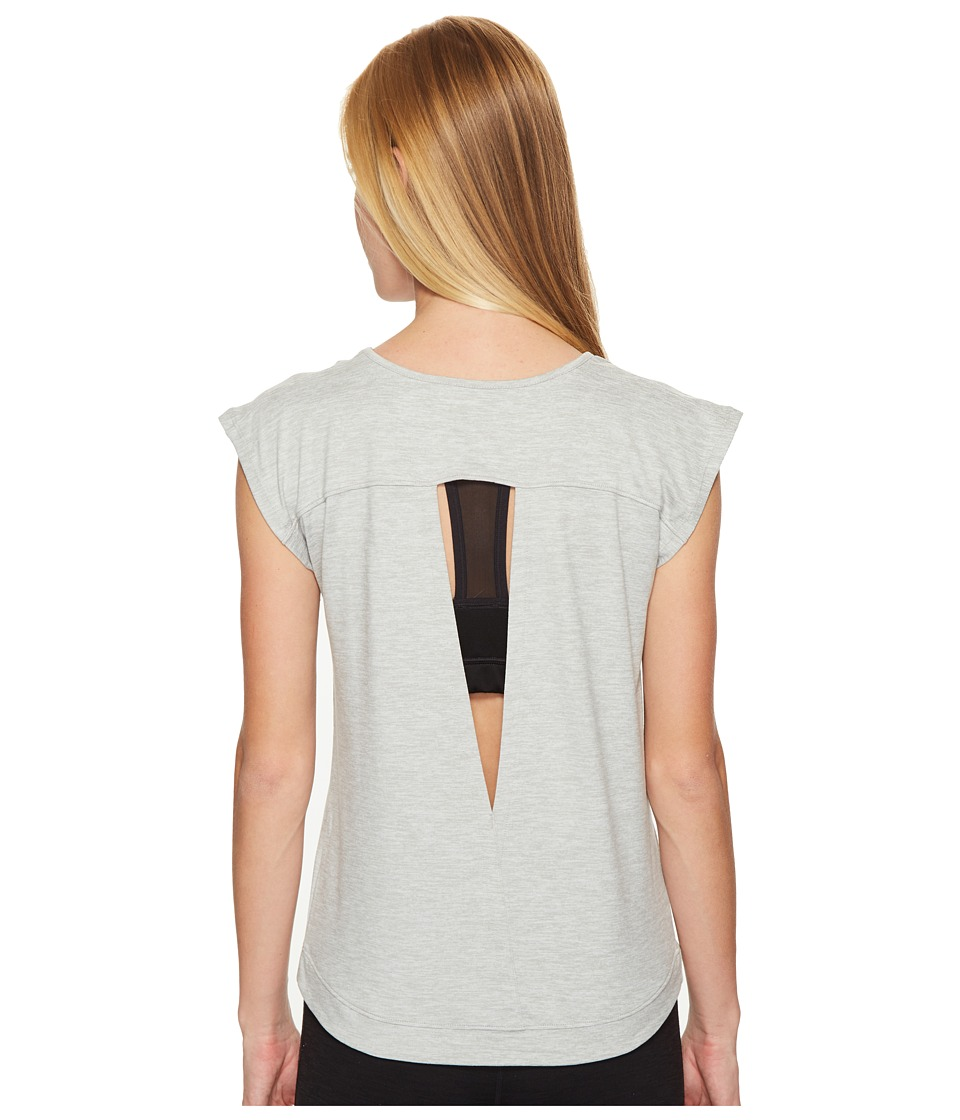 ASICS ASX Lux Short Sleeve Top (Light Grey Heather) Women