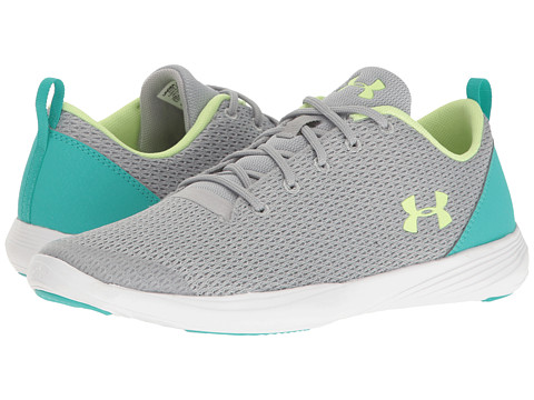 Under Armour Kids UA Street Precision Sport Low (Big Kid) - Overcast Gray/White/Lime Fizz