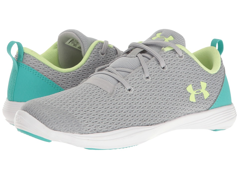 Under Armour Kids UA Street Precision Sport Low (Little Kid) (Overcast Gray/White/Lime Fizz) Girls Shoes