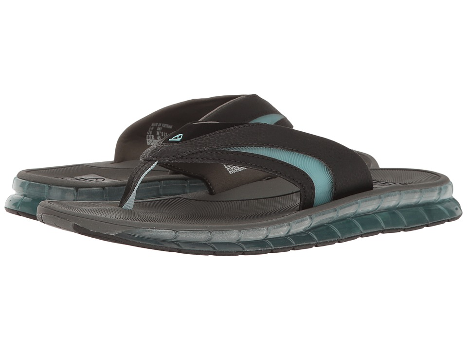 Reef - Boster (Charcoal/Blue) Men's Sandals