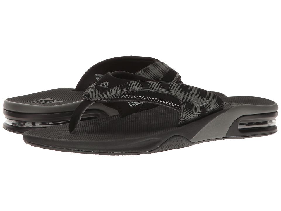 Reef Fanning Prints (Black Plaid 4) Men's Sandals
