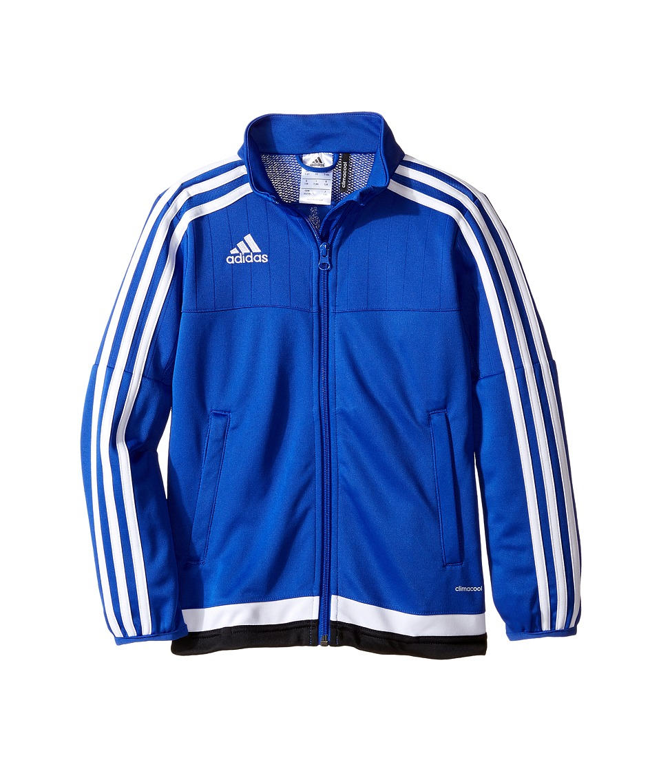 adidas Kids Tiro 15 Training Jacket (Little Kids/Big Kids) (Bold Blue/White/Black) Boy