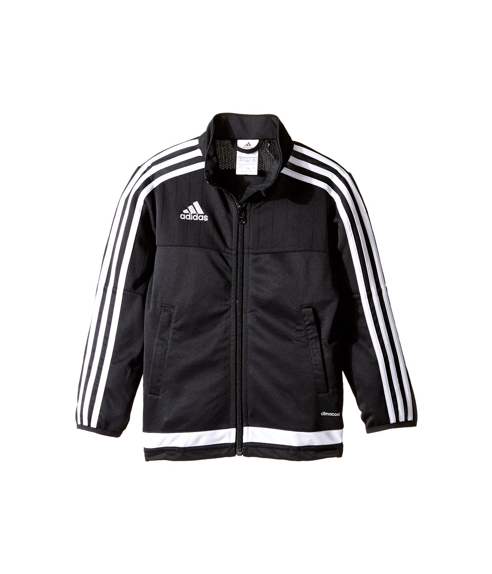 adidas Kids Tiro 15 Training Jacket (Little Kids/Big Kids) (Black/White/Black) Boy