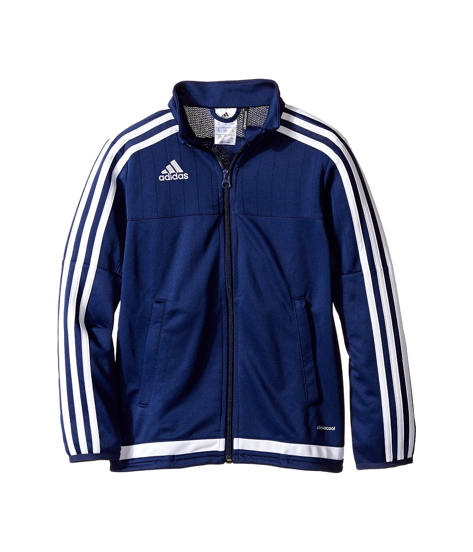 adidas Kids Tiro 15 Training Jacket (Little Kids/Big Kids) (Dark Blue/White/Dark Blue) Boy