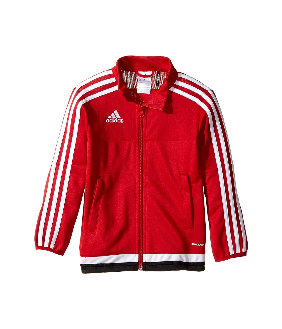 adidas Kids Tiro 15 Training Jacket (Little Kids/Big Kids) (Power Red/White/Black) Boy