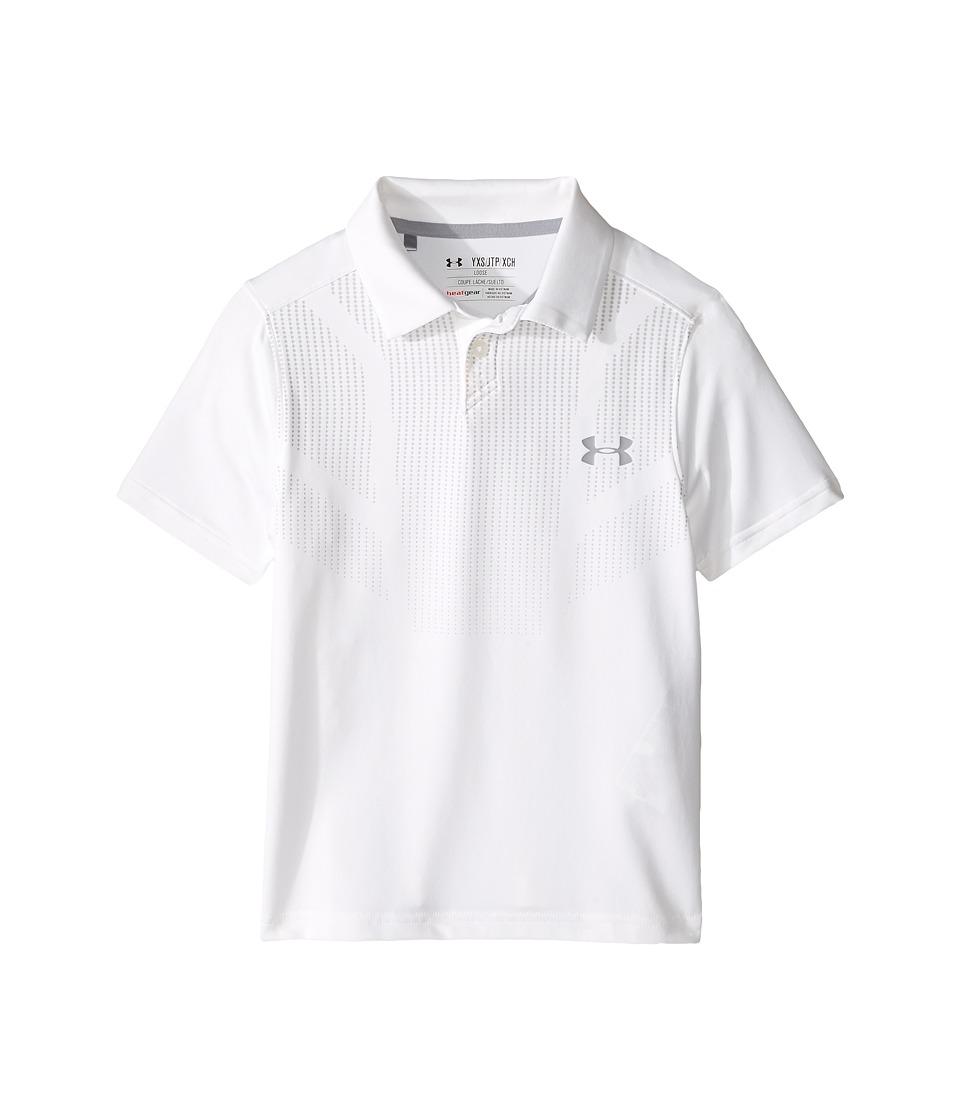 Under Armour Kids - Printed Tour Polo (Big Kids) (White/Steel) Boys Clothing