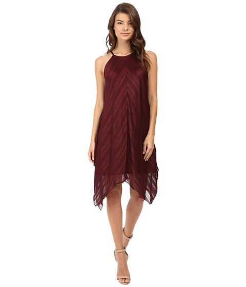 Christin Michaels Franklin Rose Halter Dress - Burgundy