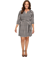 Christin Michaels - Plus Size Kimball Geo Print Dress