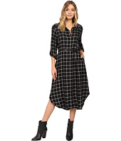 Christin Michaels - Plaid Shirtdress Hard Belt