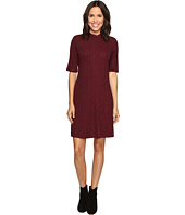 Christin Michaels - Marietta Mock Neck Swing Dress