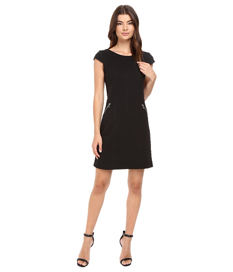 Christin Michaels Sarah Cap Sleeve Shift Dress