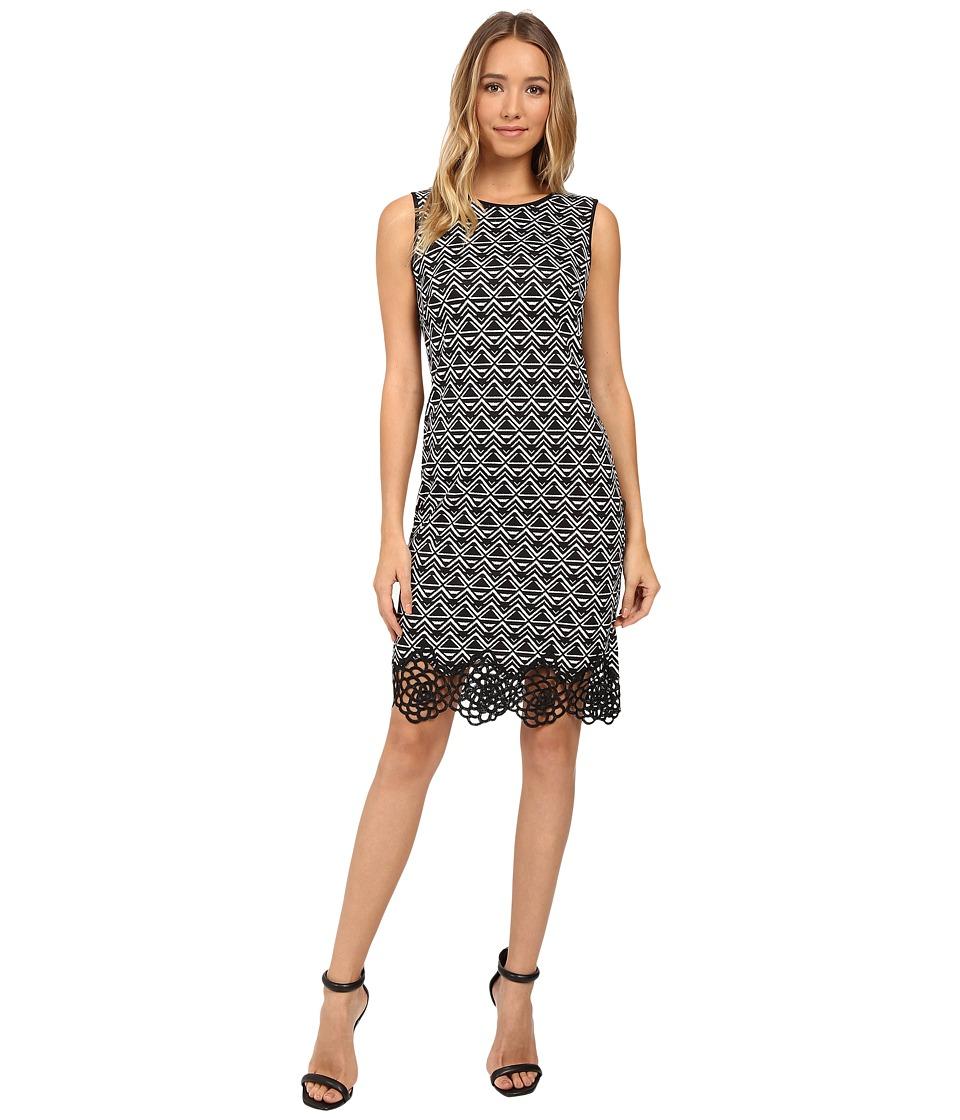 Christin Michaels Baltimore Dress (Black/Cream) Women