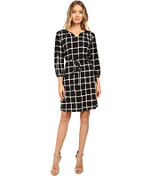 Christin Michaels - Lafayette Grid Print Dress