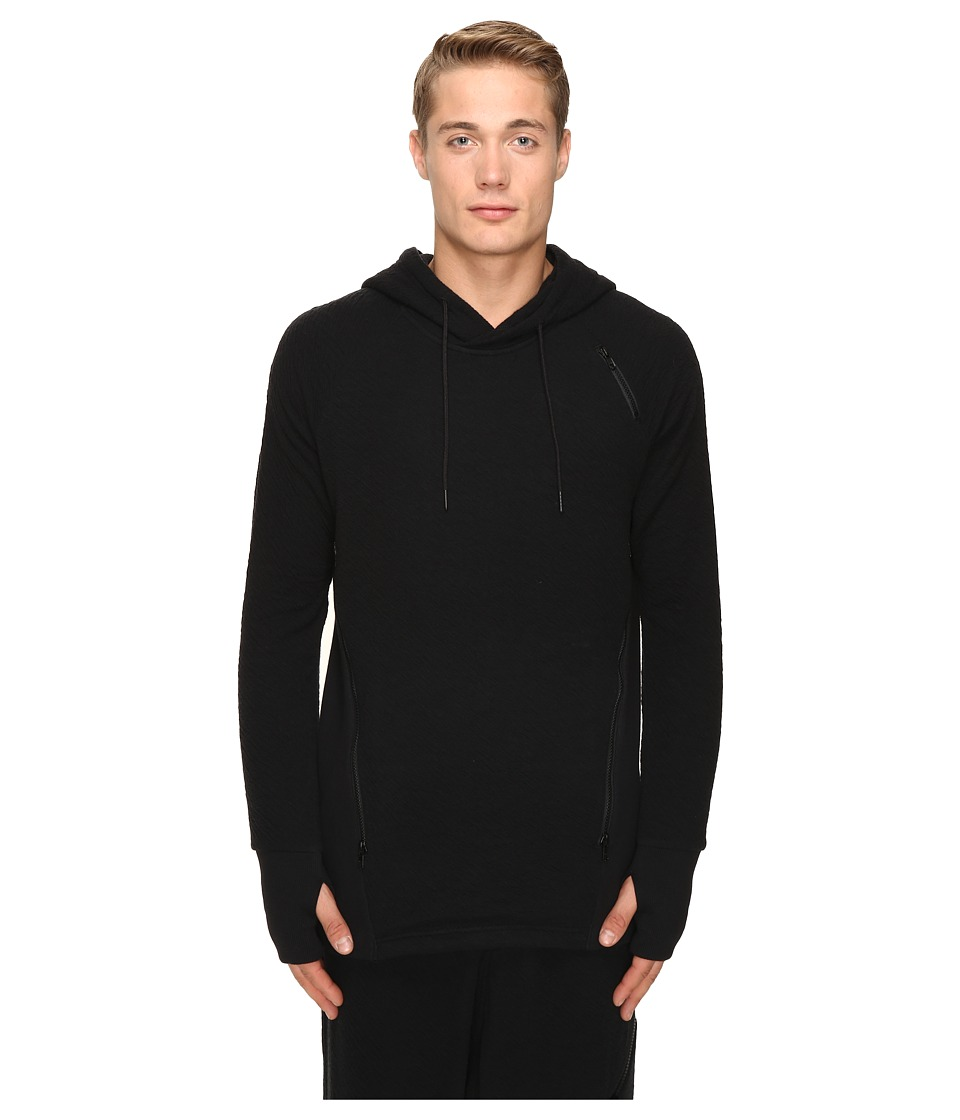 Image of adidas Y-3 by Yohji Yamamoto - Double Jersey Hoodie (Black) Men's Sweatshirt
