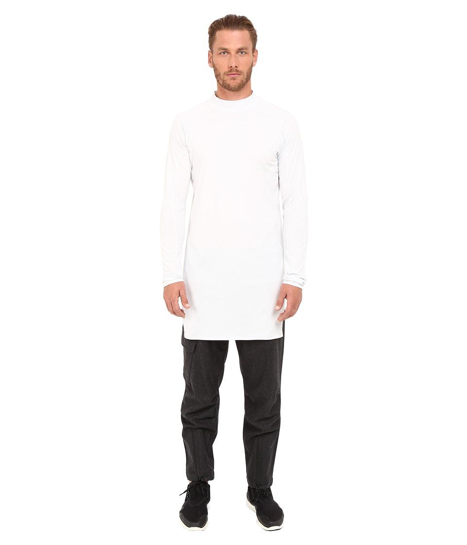 adidas Y-3 by Yohji Yamamoto Collar Long Sleeve Long T-Shirt (Crystal White) T Shirt