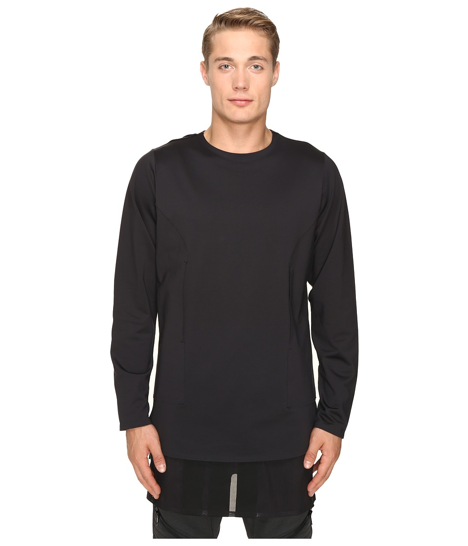 adidas Y-3 by Yohji Yamamoto Lux FT Pure Long Sleeve T-Shirt (Black) T Shirt