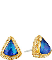 Anna Beck - Lapis Triplet Fan Stud Earrings