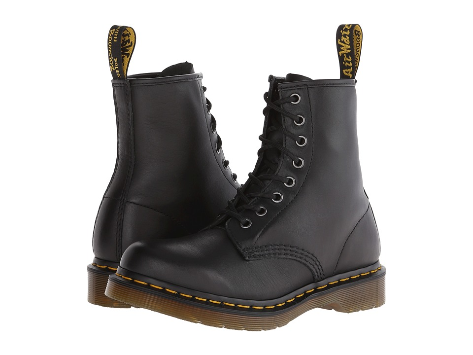 Dr. Martens 1460 W (Black Nappa Leather) Women's Lace-up Boots