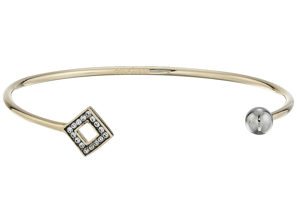 Cole Haan - Open Diamond Ball C Cuff Bracelet (Gold/Crystal) Bracelet